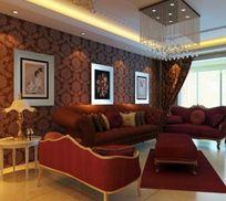 法式古典风格客厅装修造型3D设计模型
