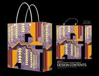 非常漂亮紫色装饰花纹手提袋
