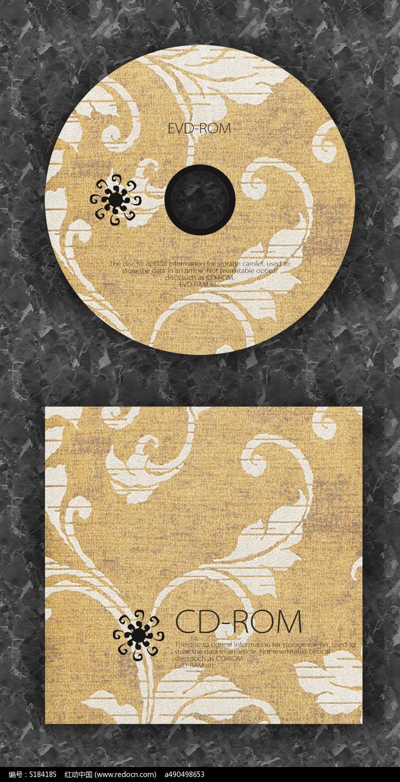 复古质感时尚cd光盘设计图片