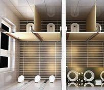 公共卫生间装修规划3D设计模型素材