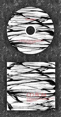 国画涂鸦时尚CD光盘设计 PSD
