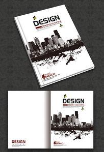 黑白建筑画册封面