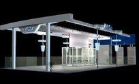 简单设计产品展厅3D模型素材