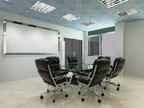 简单造型小型会议室装修3D效果模型素材资料