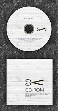 剪刀潮流时尚CD光盘设计 PSD