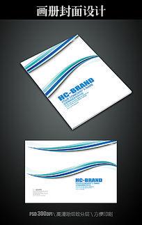 简洁线条画册封面设计模板