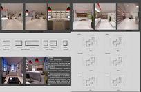 建筑设计事务所办公空间设计方案3D模型+CAD源文件