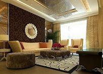 精美欧式客厅装修3D模型素材