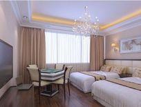 酒店豪华双人间装修3D设计模型 max