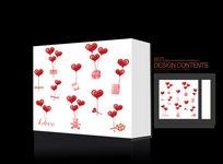 可爱爱心礼品包装盒