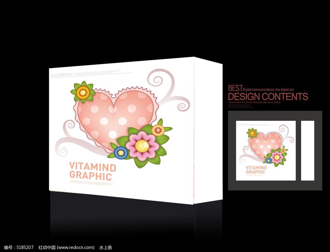 可爱爱心礼物盒图片