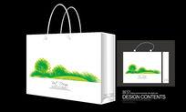 绿色矢量图案手提袋