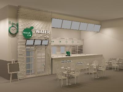 美食城小吃店装修设计素材模型