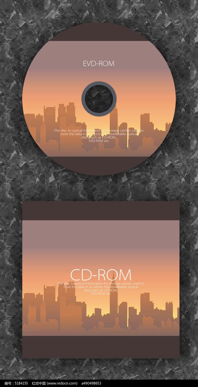 暖色城市时尚CD光盘设计图片