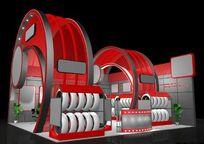汽车轮胎展厅装修设计模展厅模型素材