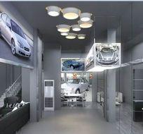 汽车展厅装修设计3D模型素材