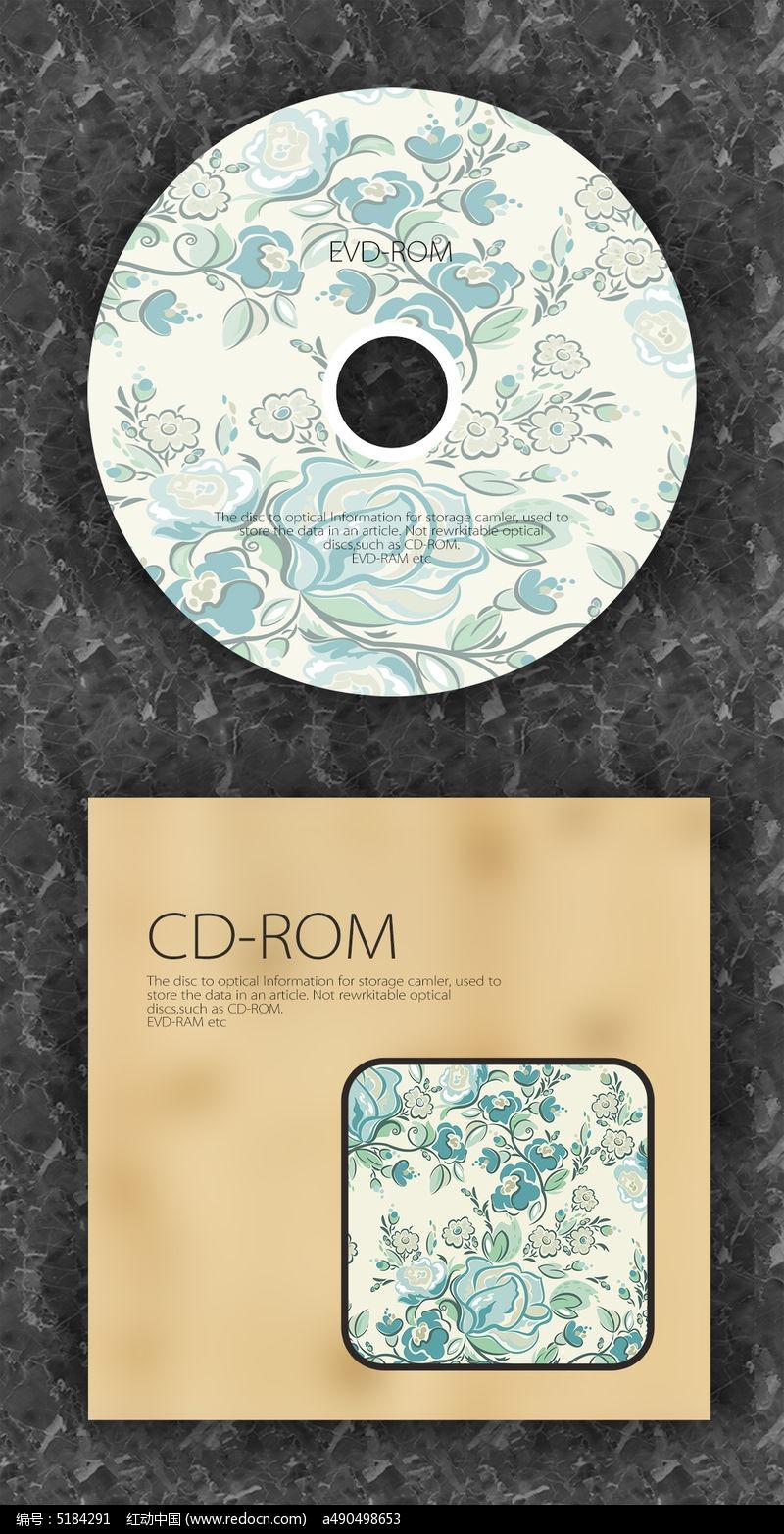 青花瓷中国风时尚cd光盘设计图片