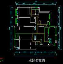 水路布置图 CAD