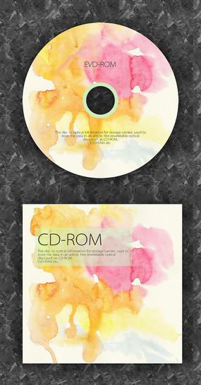 水渍风格时尚CD光盘设计 PSD