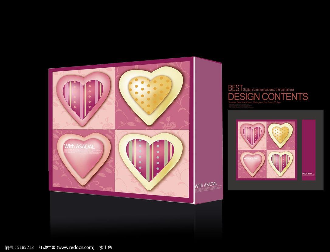 四颗爱心高档爱心礼品盒图片