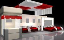 温馨浪漫风机家具床具展厅素材资料