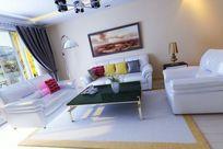 现代家装客厅装修造型模型素材