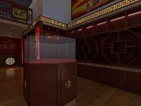 中式风格烟酒专卖店装修设计模型素材max