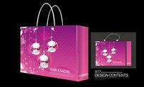 紫色生日礼品手提袋