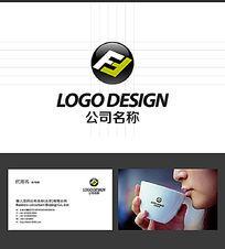 F字母LOGO标志设计