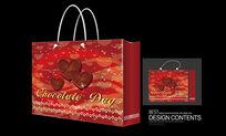 红心生日礼品手提袋