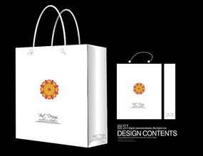 花卉图案布料手提袋