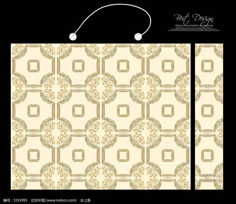 英式格子面料手提袋 花纹 包装花纹手提袋 装饰花纹手提袋 欧式花纹