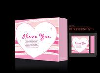 精美 化妆爱心礼品包装盒