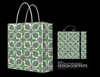绿色花手提袋