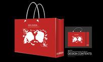 情侣头像生日礼品手提袋