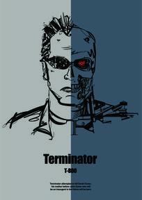 终结者Terminator人物创意设计