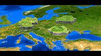 3d世界地图包ae模板