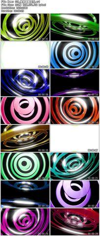 彩色圆圈圆点波点金属质感炫动舞台背景视频素材