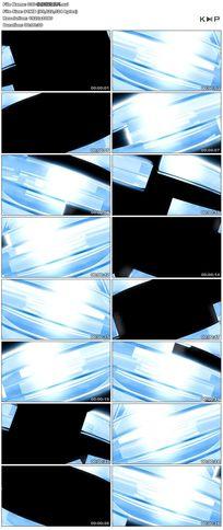 淡蓝色玻璃质感方块舞台背景视频素材