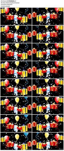節日歡快上升氣球禮品包裝盒視頻素材