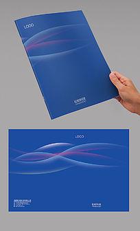 蓝色弧线科技简洁封面