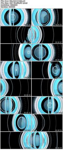 蓝色推移炫丽圆圈圆点波点舞台背景视频素材