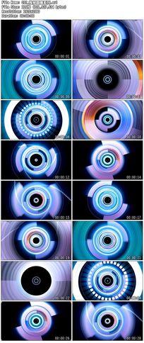 推移蓝色科技炫丽圆圈圆点波点舞台背景视频素材
