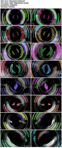 推移炫丽彩色led圆圈圆点波点炫动舞台背景视频素材