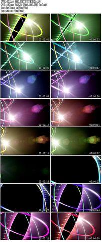 推移炫丽彩色圆圈圆点波点led炫动舞台背景视频素材