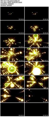 推移炫丽j金色圆圈圆点波点舞台背景视频素材