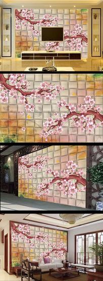 温馨唯美3D立体背景墙