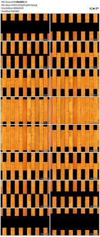 动感黄色竹子围栏运动舞台视频背景素材