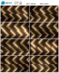 酒吧vj金色黄色动感LED矩阵灯舞台演绎背景素材
