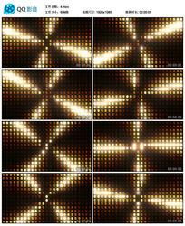 酒吧vj视频led金色黄色动感矩阵灯舞台演绎背景素材